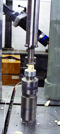 high strain rate compression test of a crushable foam, foam compression, high speed compression