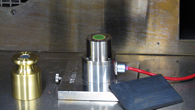 picture of TCi sensor in and environmental chamber for thermal properties analysis